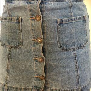Light Denim Forever 21 Button Up Skirt